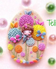 Teli creazionai fimo. what a cute polymer clay piece.