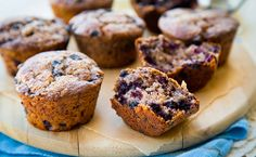 Whole-Grain Blueberry Muffins for Mother's Day!