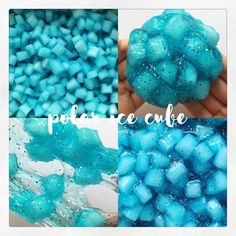 Polar Ice Cube Diy Crafts Slime, Slime Craft, Easy Crafts, Diy And Crafts, Crafts For Kids, Types Of Slime, Pretty Slime, Cool Slime Recipes, Slimy Slime