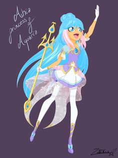 this is a new princess .Her name is Ashia and her kingdom is Aquaria