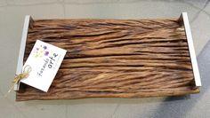 Bandeja madeira de demolição Fazendo Arte Oficina Criativa.