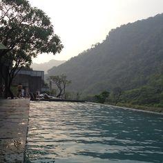 Serene mountain hot spring resort in Miaoli, Taiwan.