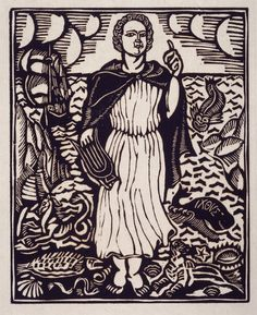 Raoul Dufy (1877 - 1953)  Orphée III (Le Bestiaire ou Cortège d'Orphée) 1910 - 1911