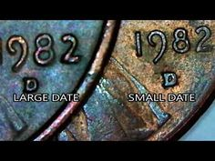 1982 d small date Ultra rare transitional error day 10 of 31 days of october! Valuable Pennies, Rare Pennies, Valuable Coins, Old Coins Worth Money, Old Money, Penny Values, Money Machine, Coin Worth, Copper Penny