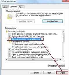 Bilgisayarınızdaki dosyaların uzantılarını Windows ilk haliyle sizlere göstermez bunu gözükür hale getirmek için yapmamız gerekenler ufak bir işlem vardır çeşit
