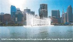 Google Builds a Barge.  Any ideas why #google is building a #barge?