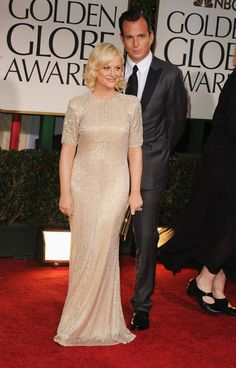 Amy Poehler and Will Arnett at the 2012 Golden Globe Awards.