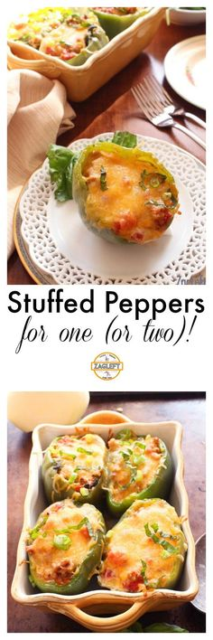 Stuffed Peppers For One (or Two) | ZagLeft