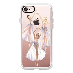 Ballet Dancer Trio (Fashion Illustration Transparent Case) - iPhone 7... ($40) ❤ liked on Polyvore featuring accessories, tech accessories, iphone case, iphone cases, iphone cover case, iphone hard case, transparent iphone case and apple iphone case