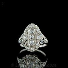 Elegant Art Deco Dinner Ring
