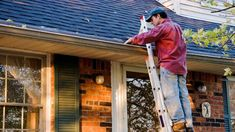 While your gutters and eavestroughs are located near the top of your home, we're guessing they're rarely top of mind. To avoid costly issues, make sure you clean your gutters and eavestroughs at least twice a year. Here's how to clean them like the pros. St Louis, Home Maintenance Checklist, Lawn Maintenance, How To Install Gutters, How To Clean Gutters, Selling Your House, Roof Repair, Window Repair, Home Repairs
