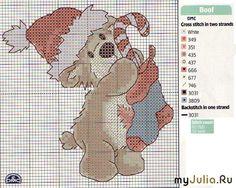 Cross-stitch Christmas Teddy