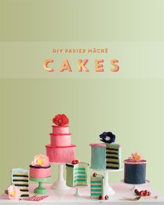 Papier Mache Cakes | Oh Happy Day! | Bloglovin'