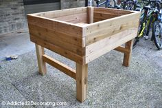 how to build an elevated garden bed table 11