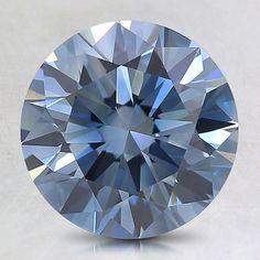 Loose Lab Created Fancy Deep Blue Round Diamond - 1.36 ct.