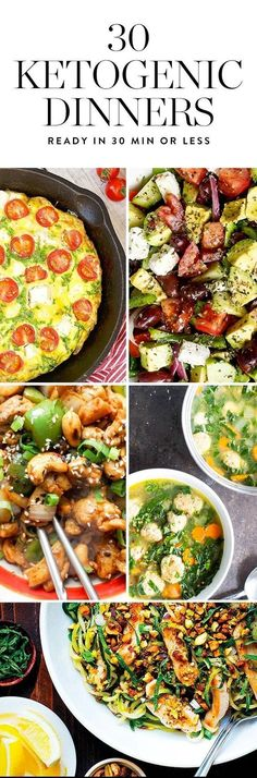 The ketogenic diet is a high fat, moderate protein, low carb eating plan that could help you lose weight. If it's cool with your doctor, try one of these 30 minute keto friendly dinners. Healthy Recipes, Ketogenic Recipes, Low Carb Recipes, Diet Recipes, Quick Recipes, Recipies, Healthy Meals, Cookie Recipes, Ketogenic Diet Food List
