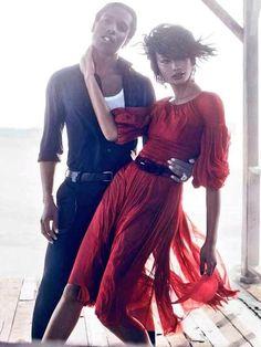 Vogue Editorial September 2014 - Chanel Iman & ASAP Rocky by Mikael Jansson Boris Vallejo, Royal Ballet, Dark Fantasy Art, Chanel Iman Asap Rocky, Body Painting, Tango, Tutu, Pretty Flacko, Vogue Us