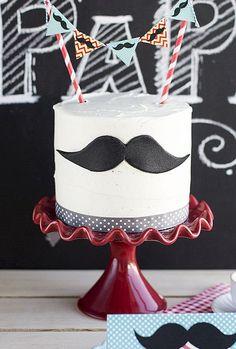 Tarta Guinness Moustache (¡con imprimible gratis!) - Megasilvita