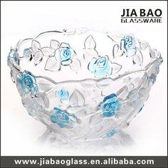 Decorative Colored Glass Bowls Ok Lighting Lg5706 Glass Fruit Bowl  Glass Fruit Bowl Glass And