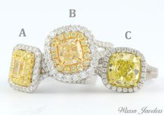 Fancy yellow diamond rings are sure to bring sunshine to your day! Which is your favorite?