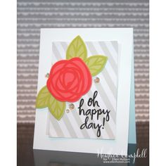 EBE BOLD BLOOMS; diagonal stripes; oh happy day; clean and simple; easy; light; large flower; flower die