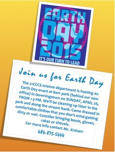 April 26th - Earth Day Activity