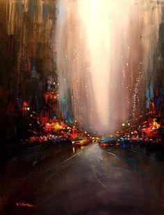"""""""Manhattan Abstraction"""" acrylic on canvas by Van Tame (http://www.vantame.fr/)"""