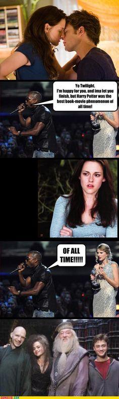 Twilight / Kanye / Harry Potter