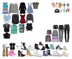 """Packing for the Academy"" by royalsinthedark ❤ liked on Polyvore featuring Skechers, ALDO, NIKE, ZIGIgirl, adidas NEO, Giuseppe Zanotti, Bebe, Posh Girl, Topshop and Rodarte"