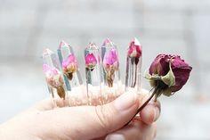 Resin Garden Crystal  Rose Bud  Rose Series  18