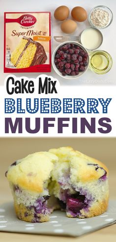 Moist Blueberry Muffins, Blue Berry Muffins, Blueberry Cake, Blueberry Muffin Cake Mix Recipe, Blueberry Biscuits, Blueberries Muffins, Blueberry Bushes, Lemon Muffins, Vegan Blueberry