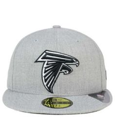 New Era Atlanta Falcons Heather Black White 59FIFTY Fitted Cap - Gray 7 1/8