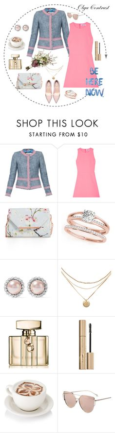 """""""12.07.2017"""" by olgacontrast on Polyvore featuring мода, Elizabeth and James, Ted Baker, Miu Miu, Gucci и Stila"""
