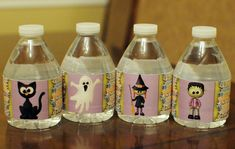 Free Printable Halloween Water Bottle Labels by MK Designs