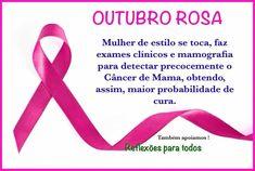 REFLEXÕES PARA TODOS: OUTUBRO ROSA (mulher de estilo se toca...) Cancer, Personal Care, Beauty, Instagram, Portugal, Gifs, October, Bronze, Fitness
