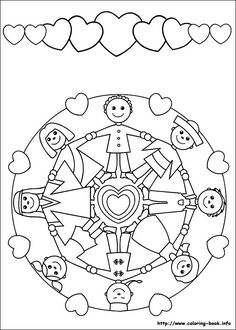Mandalas colouring picture. Nice way to get a child to introduce his/her family. It sometimes takes a while to get a child to talk to you. At least now you can colour and talk at the same time.