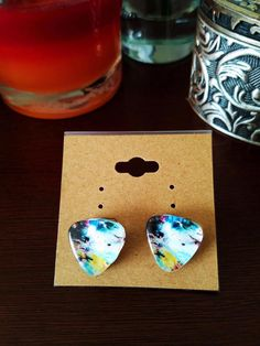 Check out this item in my Etsy shop https://www.etsy.com/listing/519736485/handmade-art-glass-ear-studs-art-glass