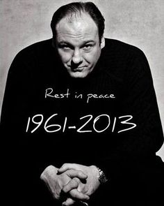 """James Gandolfini, 1961 - 2013 Best known as the murderous, clinically depressed mob boss on HBO's """"The Sopranos,"""" Gandolfini won three Emmy Awards for the role, now considered one of the landmark characters of television drama. Walking With Dinosaurs, I Movie, Movie Stars, Tony Soprano, Gone Too Soon, Thanks For The Memories, Rest In Peace, Always Remember, Famous Faces"""