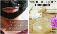 10 Amazingly Easy Homemade Face Masks For Radiant Skin-Face masks are a must if you want beautiful skin and using them is so simple. Here are 10 amazingly easy homemade face masks for radiant skin. Easy Homemade Face Masks, Face Scrub Homemade, Homemade Facials, Homemade Skin Care, Homemade Moisturizer, Homemade Beauty, Charcoal For Acne, Charcoal Mask, Avocado Face Mask