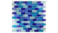 NOT REALLY SO MUCH Aqua Mosaics | GP82348B3 | Dark Blue | Tile > Glass Tile