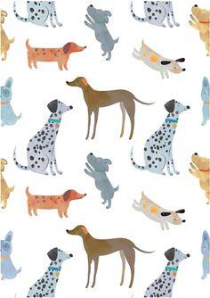 Dog Pattern, Sketchbook Inspiration, Pattern Illustration, Kids Prints, Stuffed Animal Patterns, Surface Pattern Design, Repeating Patterns, Textile Prints, Dog Design