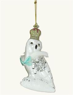 Queen Of The Winterwood Owl Ornament from Victorian Trading Co.