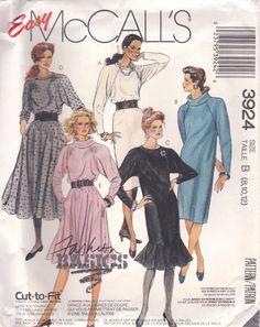 Raglan Sleeve Dress Pattern McCalls 3924 Sizes 8 12 Uncut