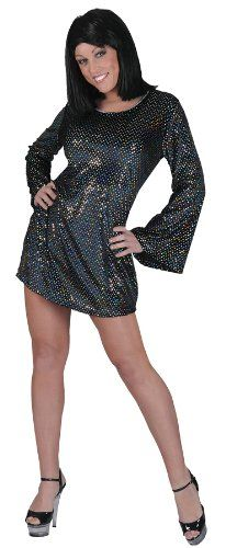morris Disco Babe Black Dress Std, Size: One size Couple Halloween Costumes, Adult Costumes, Costumes For Women, Halloween Dress, Disco Costume, Funny Fashion, Costume Collection, Costume Shop, Sequin Dress