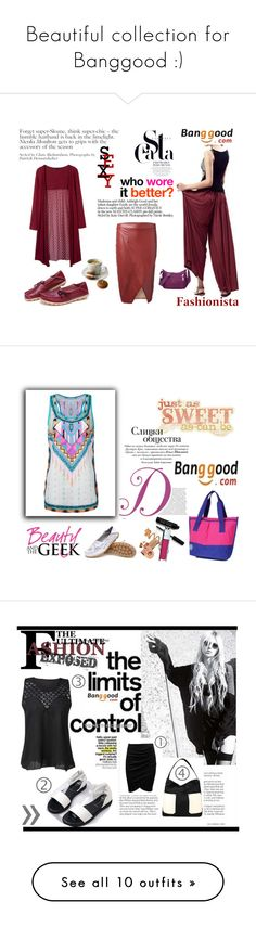 """""""Beautiful collection for Banggood :)"""" by malasirena989 ❤ liked on Polyvore featuring Summer, dress, sea, BangGood, CASSETTE, Kate Spade, pants and 2016"""