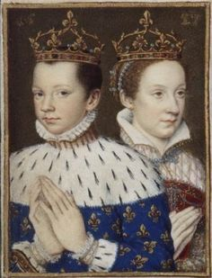 François II, Roi de France, et sa femme, Mary Stuart circa Wikimedia Commons Uk History, French History, Tudor History, European History, British History, Ancient History, Mary Queen Of Scots, Queen Mary, Queen Elizabeth