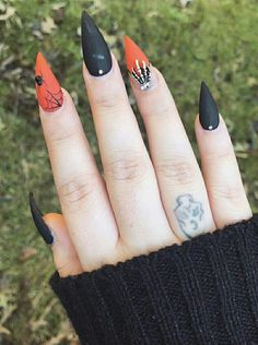 Best Halloween Nail Ideas in 2019 Cute Halloween Spider Web Stiletto Nails Nail Art Halloween, Halloween Nail Designs, Halloween Spider, Pink Halloween, Halloween Ideas, Halloween Decorations, Halloween College, Halloween City, Halloween Costumes
