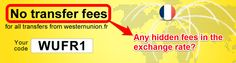 Again, Western Union advertising their 'fee-free' service. This claim breaks down when fee-free is revealed to not mean fee-free, but wrought with hidden fees.