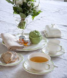 """Zastawa stołowa - Faïencerie de GIEN """"Collection Filet Vert 1645 """""""