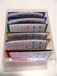 entrainement à l'addition posée en colonne façon Montessori - La classe d'Eowin